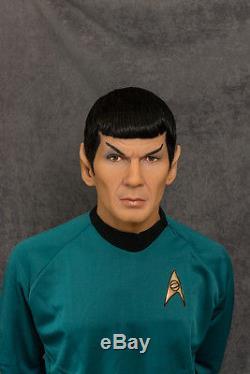 11 Mr. Spock Silicone Bust Torso/ Star Trek Original Tv Series/ Leonard Nimoy