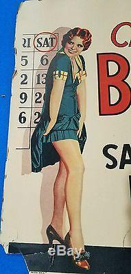 1929 The Saturday Night Kid original window card movie poster Clara Bow