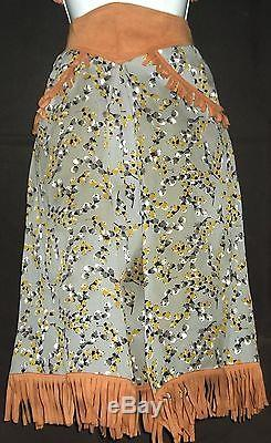 1940s 1950s WESTERN FRONTIER PERIOD COWGIRL OUTFIT BOLO VEST & SKIRT GENE & ROY