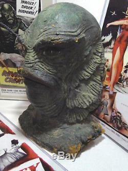 1950's CREATURE from the BLACK LAGOON (15 Head) 1954 Universal Latex Prop