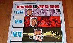 1967 James Bond You Only Live Twice Teaser Movie Poster 67/115 Original+Rare