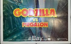 1976 Godzilla vs Megalon One Sheet Original Movie Poster Vintage