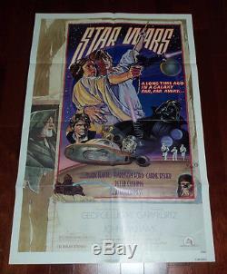 1977 STAR WARS ORIGINAL STYLE D 1SH GEORGE LUCAS
