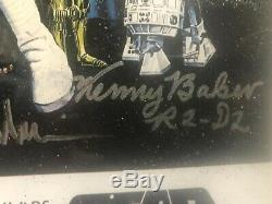 1977 Signed Star Wars IV A NEW HOPE (1977 ORIGINAL MOVIE) Poster with COA