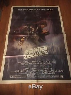1980 Empire Strikes Back original Poster 27x41 Mint Star Wars Episode IV