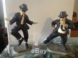 2 Blues Brothers Jake Elwood Statues figures Rare Dan Aykroyd John Belushi