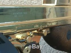 24kt Gold Auto Ordinance Chicago Typewriter Real Wood Full Metal Airsoft 45ACP