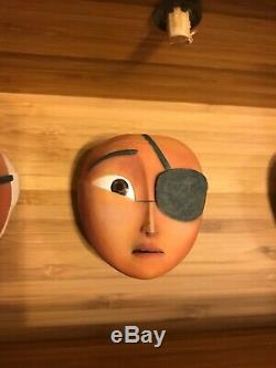 3 Kubo And The Two Strings Screen Used Stop Motion Face Set With Collectors Box