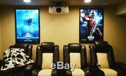 5-Pack 27x40 Custom Premium LED Light Box Movie Poster Display Frames