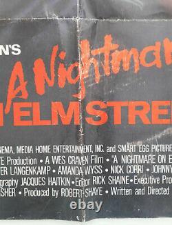 A NIGHTMARE ON ELM STREET 1984 ORIGINAL MOVIE POSTER 27x41 FOLDED
