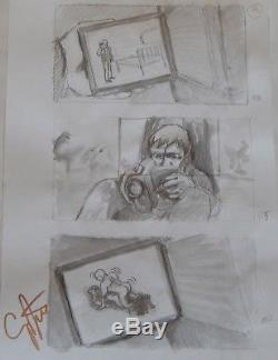 A Serbian Film, Original Hand Penciled Storyboard Pages Signed By Director