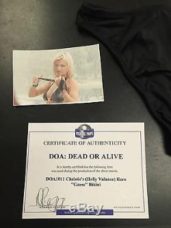 ACTUAL HOLLY VALANCE SCREEN WORN BIKINI Movie DOA Dead or Alive Guess Hero Suit
