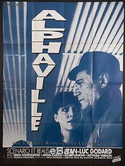 ALPHAVILLE French 46x62 RI poster Jean-Luc Godard Anna Karina Filmartgallery