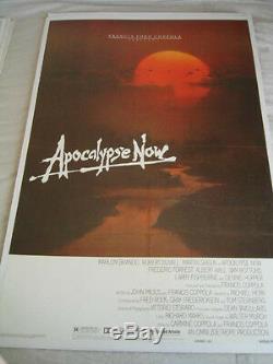 APOCALYPSE NOW 1979 ADVANCE 1 SHT ORIGINAL 27x41 MOVIE POSTER LINEN BACKED (468)
