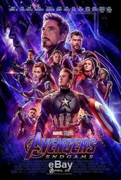 AVENGERS ENDGAME Original DS 27x40 Final Movie Poster IRON MAN CAPTAIN AMERICA