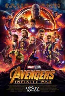 AVENGERS INFINITY WAR Original DS 27x40 Movie Poster FINAL Version IRON MAN HULK