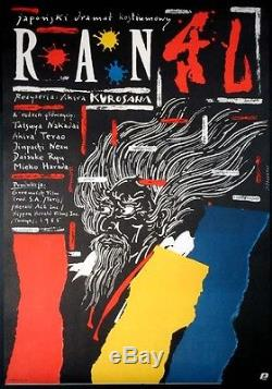 Akira Kurosawas Ran Original Polish B1 Movie Poster Pagowsky Art 1988