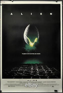 Alien 1979 Original 40x60 Movie Poster Sigourney Weaver John Hurt