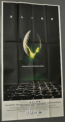 Alien 1979 Original 41x81 3-sheet Movie Poster Sigourney Weaver John Hurt
