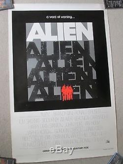 Alien 1979 Original Advance Teaser 1sheet Movie Poster Scott- Weaver