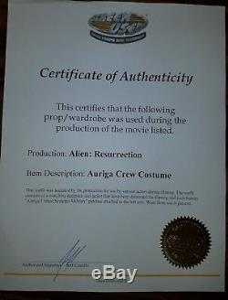 Alien Resurrection Screen Used / Worn Auriga Crew Jumpsuit Comes With COA
