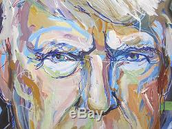Anastasia Yesipova ORIG Donald TRUMP Acrylic Expressionism Portrait Painting yqz