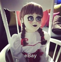 Annabelle Lifesize Original Prop Doll & Book the Conjuring Movie