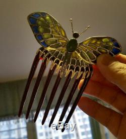 Antique Vogue TITANIC Rose's Beautiful Butterfly Comb Hairpin Hair statue