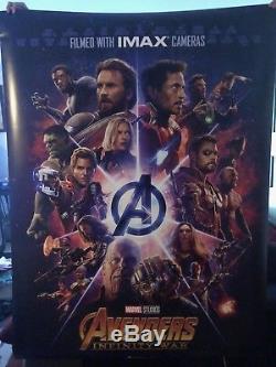 Avengers Infinity Wars Original IMAX Bus Shelter Poster 4 x 6 New