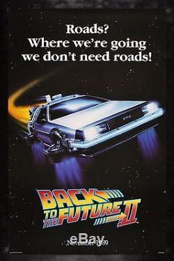 BACK TO THE FUTURE 2 CineMasterpieces ORIGINAL RARE ROADS MOVIE POSTER 1989