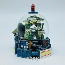 BACK TO THE FUTURE Vintage DELOREAN Snow Globe UNIVERSAL STUDIOS 1998