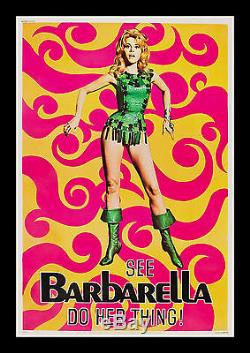 BARBARELLA 40x60 CineMasterpieces ORIGINAL VINTAGE MOVIE POSTER 1968 SIXTIES