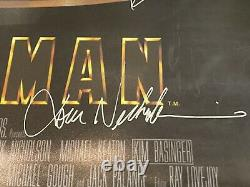 BATMAN 1989 Signed Poster 24x36 Real Signatures By Michael Keaton Cast