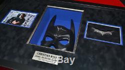 BATMAN STORYBOARDS, Signed CHRISTIAN BALE Mask, COA UACC, Frame, DVD, Real CAPE