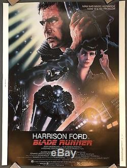 BLADE RUNNER Original 30X40 Poster 1982 VF+ ROLLED Harrison Ford RARE RARE RARE