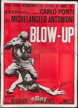 BLOW UP 1967 Italian 55x78 poster Antonioni fashion photography filmartgallery