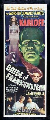 BRIDE OF FRANKENSTEIN CineMasterpieces RARE HORROR ORIGINAL MOVIE POSTER 1935