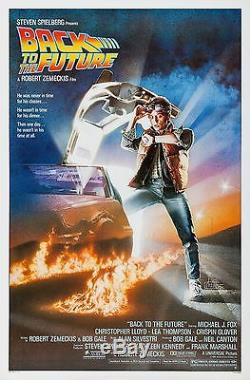 Back To The Future (1986) Original Movie Poster Rolled Artwork By Drew