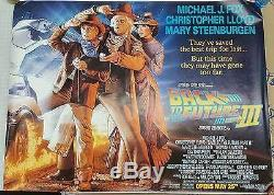 Back To The Future III (1990) Original Subway Movie Poster 46 X 60 Rolled