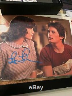 Back to the Future Screen Used Prop and Authentic Autographs- Framed BTTF auto