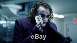 Batman The Dark Knight Screen Used Prop Heath Ledger Joker Card With Frame & COA