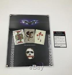 Batman The Dark Knight Screen Used Prop Heath Ledger Joker Cards With Frame & COA