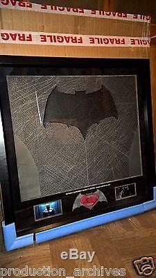 Batman V Superman Dawn Of Justice Original Batsuit Material Ink Test Display