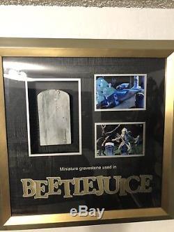 Beetlejuice Miniature Gravestone COA Propstore
