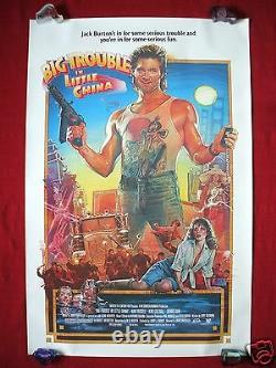 Big Trouble In Little China 1986 Original Movie Poster The Thing Halloween Nm-m