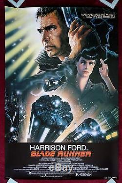 Blade Runner Original Movie Poster 1982 1sh Rare Rolled Nss Issue C9-c10
