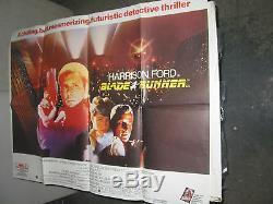 Blade Runner /original British Quad Movie Poster (harrison Ford/ridley Scott)