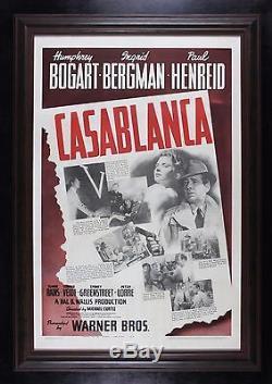 CASABLANCA CineMasterpieces 1942 VINTAGE ORIGINAL ONE SHEET MOVIE POSTER