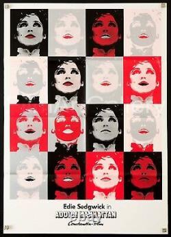 CIAO MANHATTAN Original 1973 23x33 Edie Sedgwick Andy Warhol Film/Art Gallery