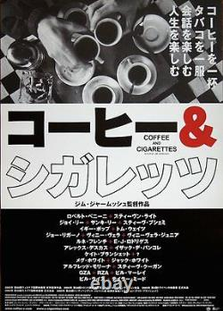 COFFEE AND CIGARETTES Japanese B2 movie poster style B JIM JARMUSCH 2003 MINT